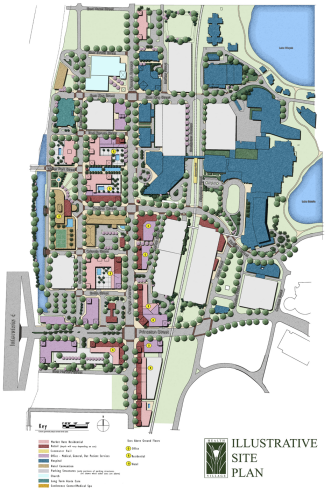 Click to see the Health Village Illustrative Plan