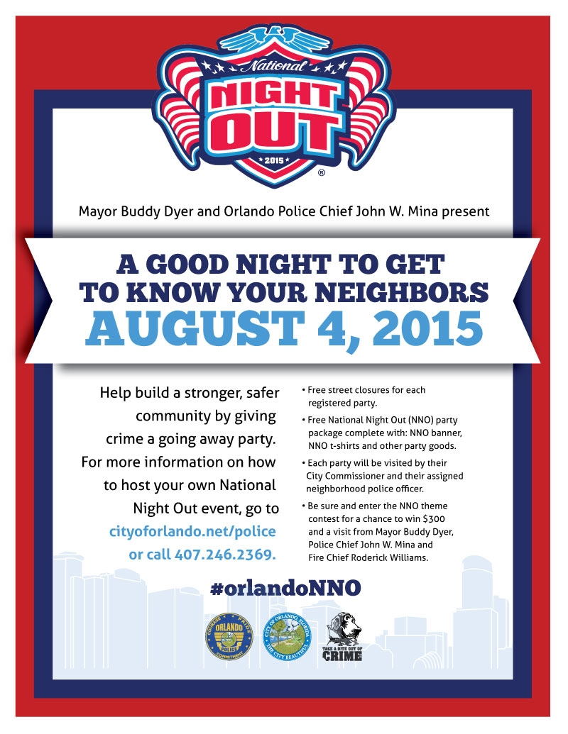 College Park Neighborhood Association - National Night Out 2015